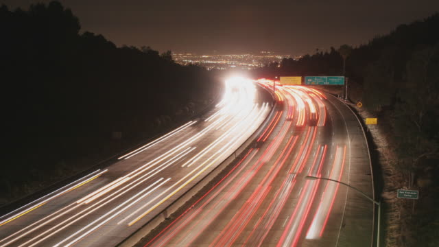 Traffic on the 405 Time Lapse video