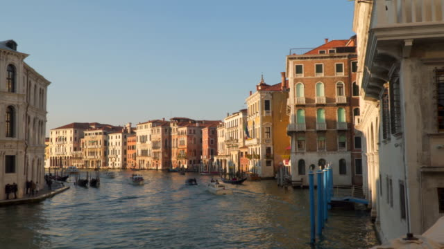 Traffic on the Grand Canal in Venice video