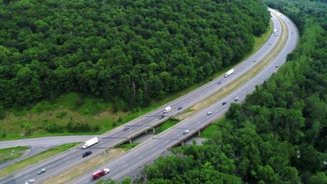 Traffic on The New York State Thruway