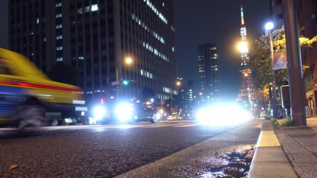 Befahrenen Straße und Tokyo Tower – Video