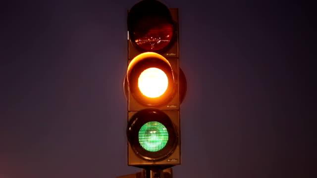 Traffic signal green yellow red