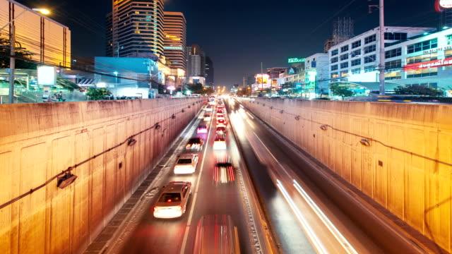 Traffic timelapse in motion video