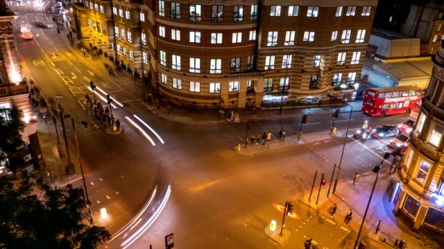 交通タイムラプス、ロンドン、イングランド、イギリス - ファストモーション点の映像素材/bロール