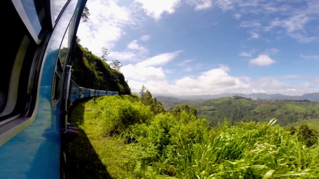 Train among tea plantations in the highlands of Sri Lanka Train among tea plantations in the highlands of Sri Lanka. sri lanka stock videos & royalty-free footage