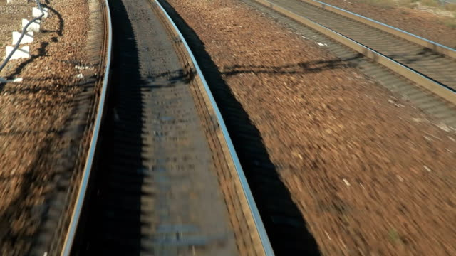 Train departs from station POV Train departs from station POV intercity stock videos & royalty-free footage