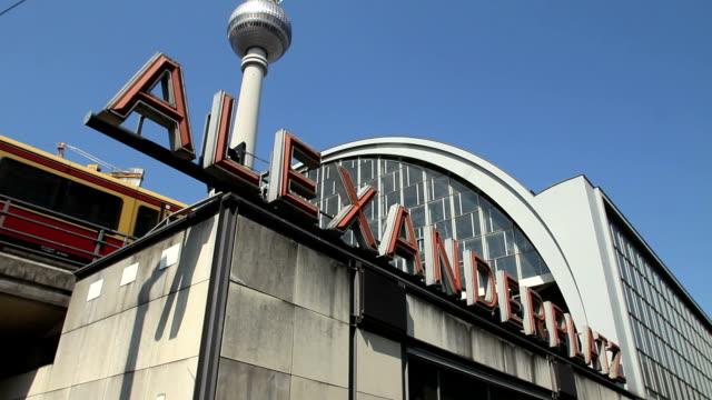 Train entering Alexanderplatz station video