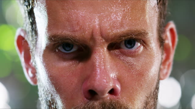 Train hard or go home 4k footage of a young man sweating excessively after his workout macho stock videos & royalty-free footage