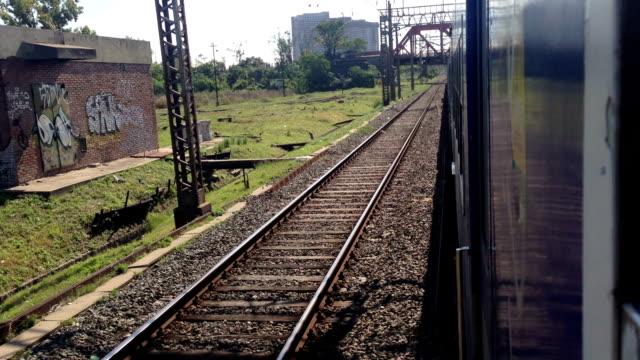 Train moving day POV - side video