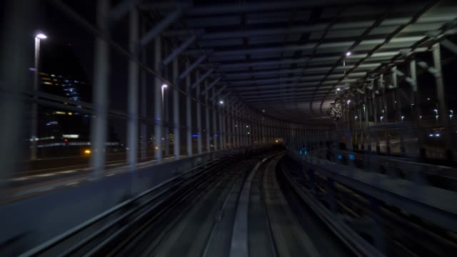 train moving in tunnel,Tokyo, Japan train moving in tunnel,Tokyo, Japan railroad track stock videos & royalty-free footage