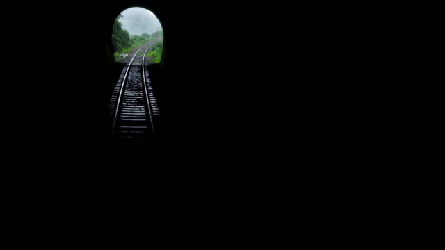 Train Moving into Tunnel video