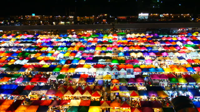 Train Night Market, Bangkok video