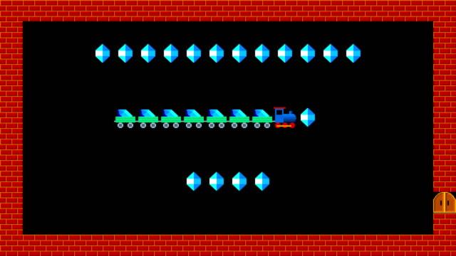 vídeos de stock, filmes e b-roll de enigma do trem, estilo retro baixa resolução pixelated animação gráfica do jogo, nível 1 - game