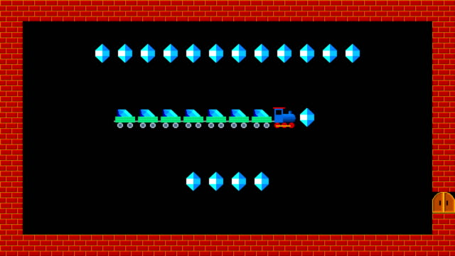 train puzzle, retro style low resolution pixelated game graphics animation, level 1 - развлекательные игры стоковые видео и кадры b-roll