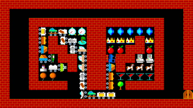 Train puzzle, retro style low resolution pixelated game graphics animation, level 30 video