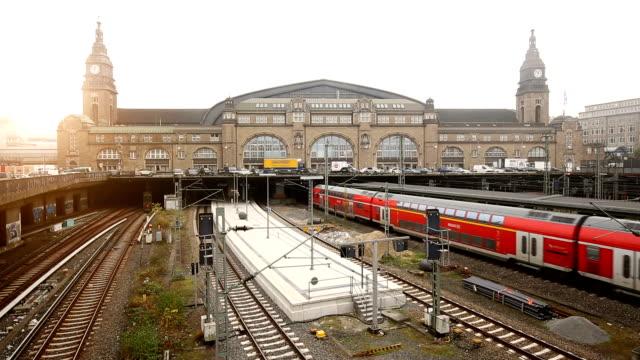 ハンブルクの鉄道駅 ビデオ
