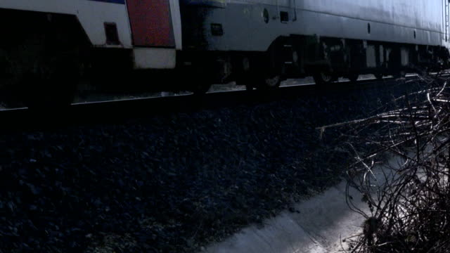 Train Wheels on Railway Track video