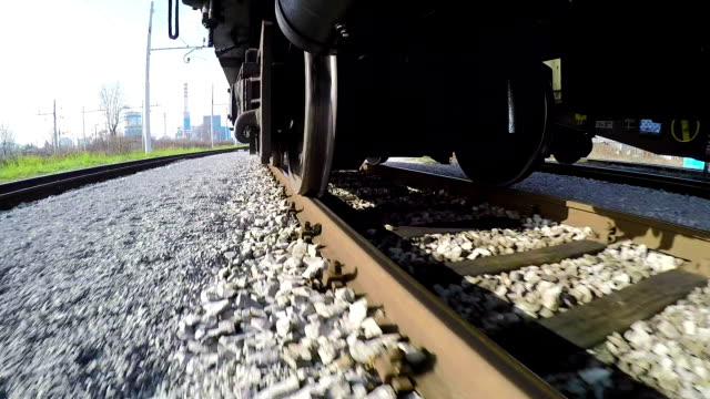Train Wheels on the Rails video