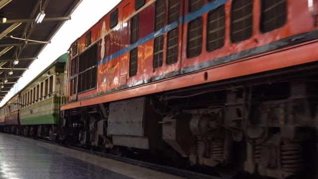 Trains at Hua Lamphong Station bangkok thailand.
