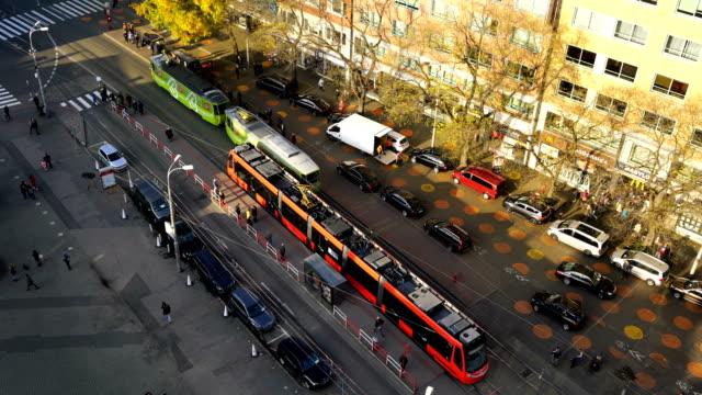 Tram pasing Bratislava, Slovakia - video