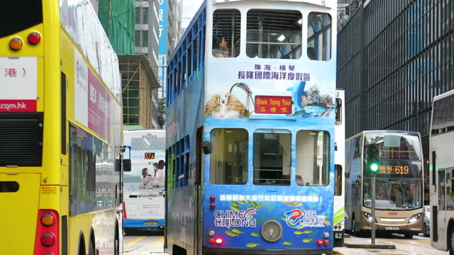 Trams and buses in Hong Kong video