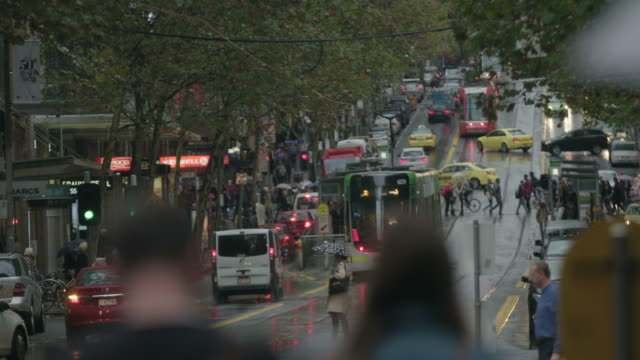 trams on the street - melbourne stock videos & royalty-free footage