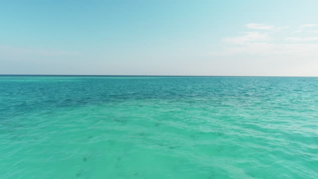 ms tranquil blue tropical seascape,maldives - grandangolo tecnica fotografica video stock e b–roll