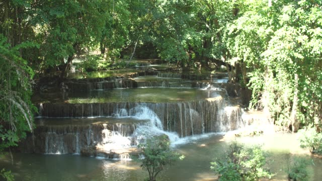 Tranquil Scene of Waterfall Stream, Huay Mae Khamin Waterfall, Thailand video
