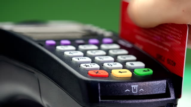 transfer payment. credit card payment terminal. - debt stock videos & royalty-free footage