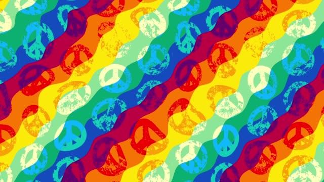 trasformare lo sfondo geometrico - hippy video stock e b–roll