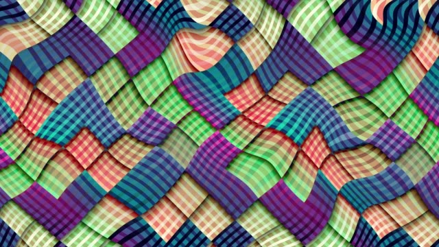 Transform geometric background Wavy moving plaid background. Seamless looping footage. plaid stock videos & royalty-free footage