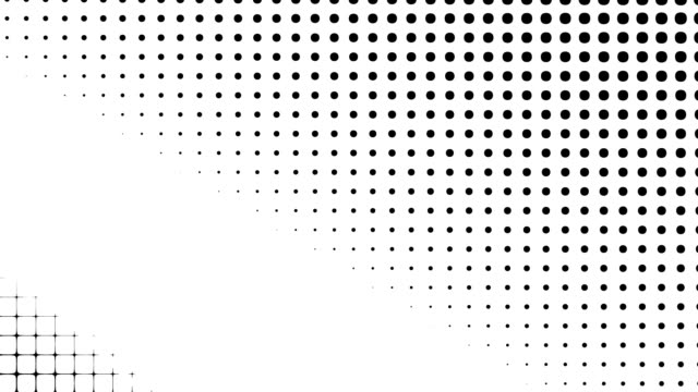 Transform geometric background Moving geometric black and white polka dot. Seamless looping footage. plaid stock videos & royalty-free footage