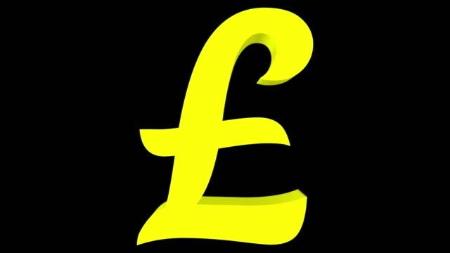 omvandling av euro symbolen till symbolen gbp och omvänd - pound sterling isolated bildbanksvideor och videomaterial från bakom kulisserna