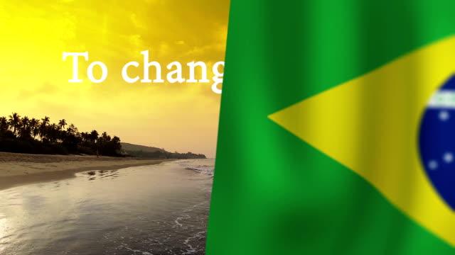 övergång - flagga animering för att ändra bilden i videoklipp - brasilien flagga bildbanksvideor och videomaterial från bakom kulisserna