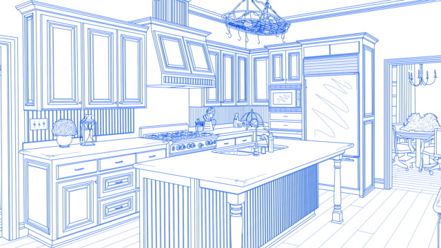 Transition Of Custom Kitchen From Drawing to Completion