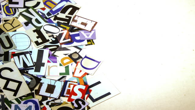 Transition with random paper letters Transition with random paper letters alphabet stock videos & royalty-free footage