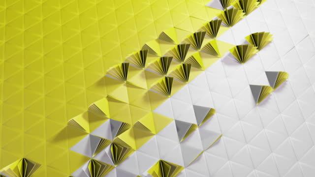 övergångar - aperture - gula trianglar med chroma key - blue yellow band bildbanksvideor och videomaterial från bakom kulisserna