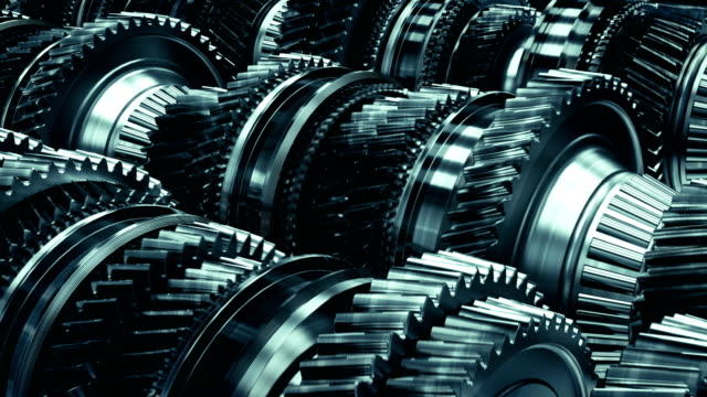 vídeos de stock e filmes b-roll de transmission gearbox gear box automotive auto car working animation top quality high focused dark - dentes