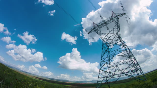 Transmission Towers and Power Lines video