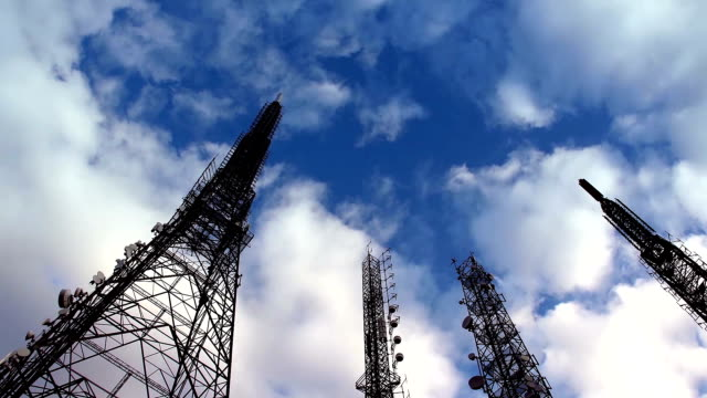TV transmitter stations in Istanbul Turkey. video