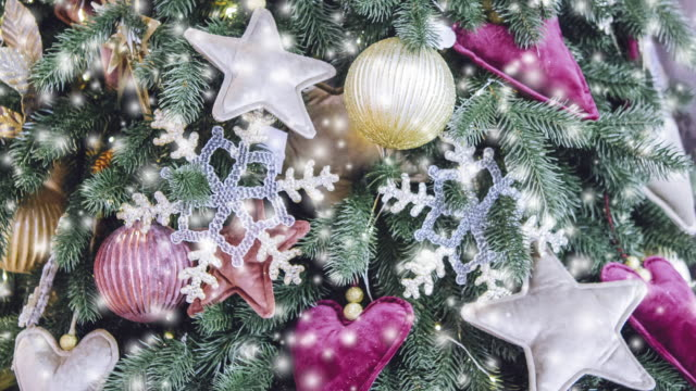 Transparent Snowflake Decor New Year Christmas Decoration video