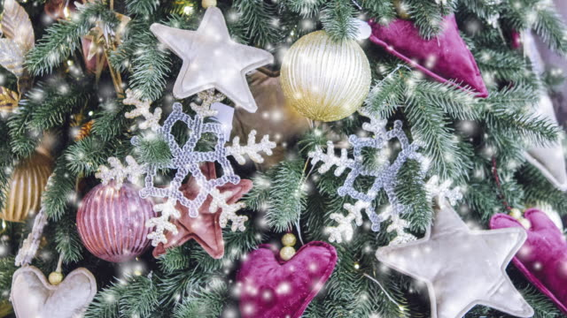 Transparent Snowflake Decor New Year Christmas Decoration video