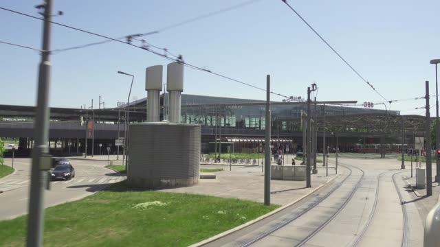 Transport hub in the city of Vienna video