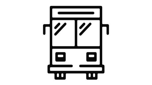 transport line motion graphic - tour bus stock-videos und b-roll-filmmaterial
