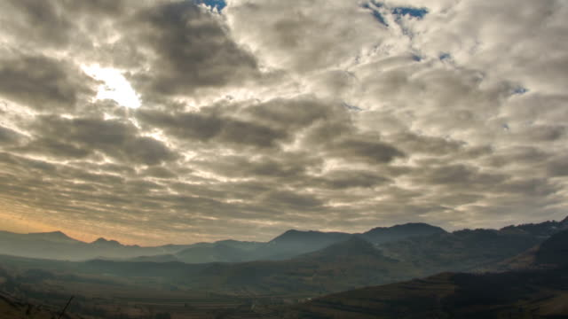 Transylvania hills landscape time lapse video