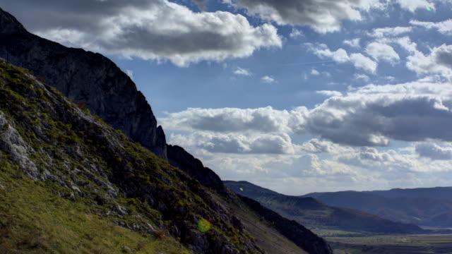 Transylvania, Romania, Trascau Mountains HDR time lapse video