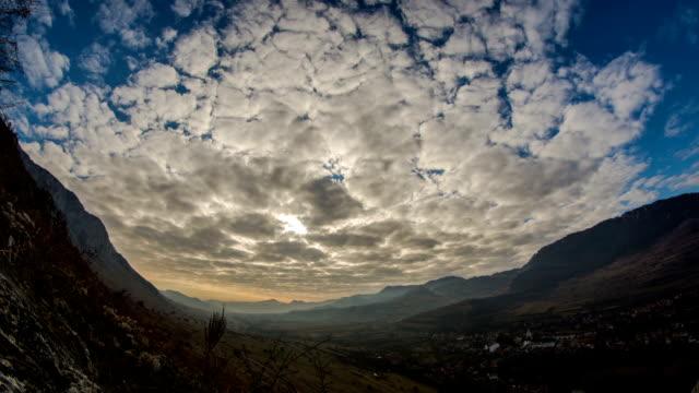 Transylvania valley and Remetea village time lapse video