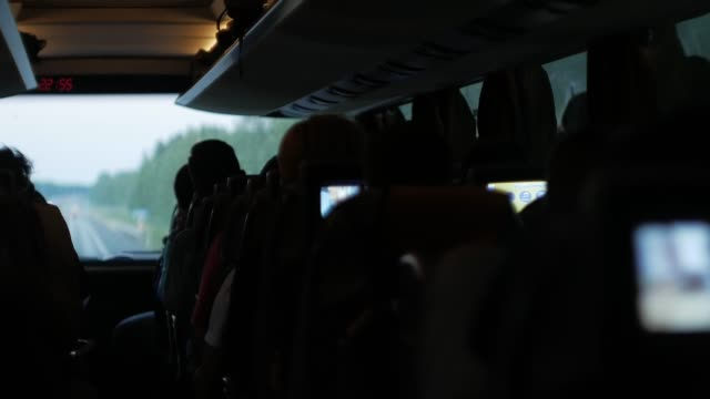travel by bus. inside the cabin - bus driver stock videos and b-roll footage