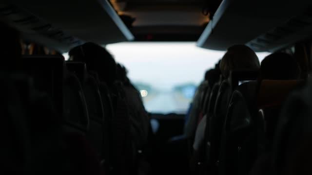 Mit dem Bus Reisen. In der Kabine – Video