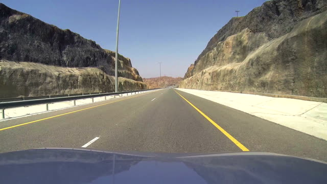 Travel by car in Oman highways video