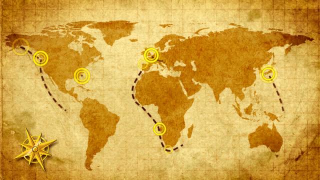 Travel destinations. Retro. video